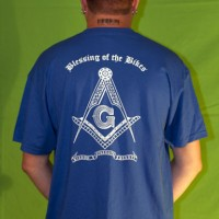 Blue Blessing of the Bikes t-shirt